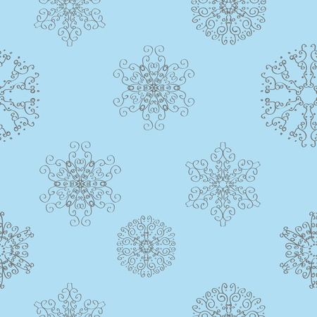 Winter christmas new year seamless pattern /beautiful texture with snowflakes Stock Vector - 10826015
