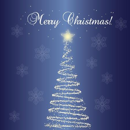 Christmas tree seamless pattern photo