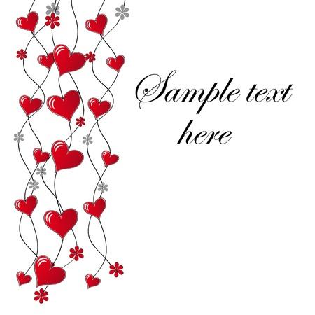 Valentine `s tarjeta de días en el vector