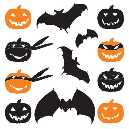 merrily: Halloween testa di zucca e pipistrello