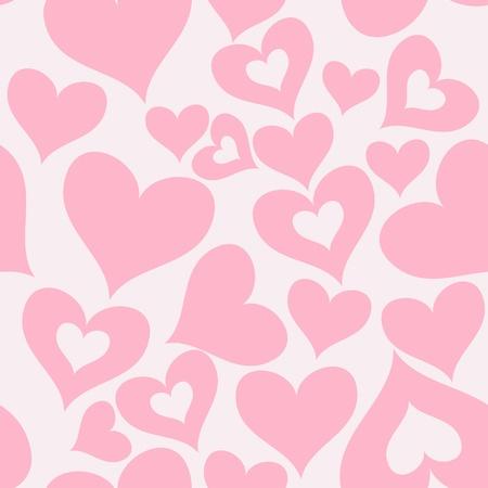 발렌타인 원활한 하트 패턴