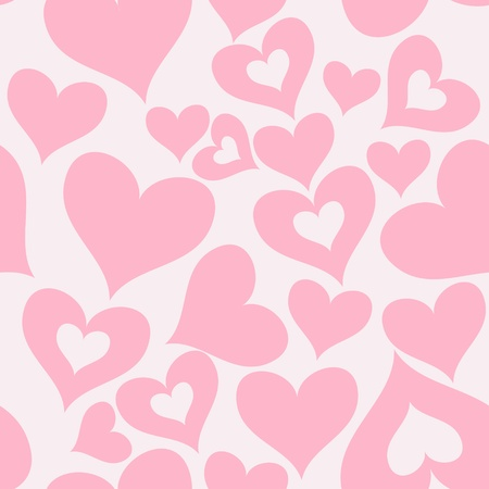 ornamental background: valentine seamless hearts pattern