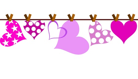 Fondo de valentine vector con corazón