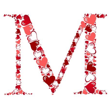 heart  love: Alphabet of hearts vector illustration Illustration