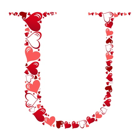 Alphabet of hearts vector illustration Vector