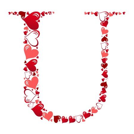 Alphabet of hearts vector illustration Illustration