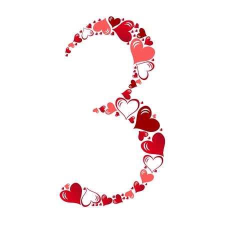 Number of hearts vector illustration Stock Vector - 11083716