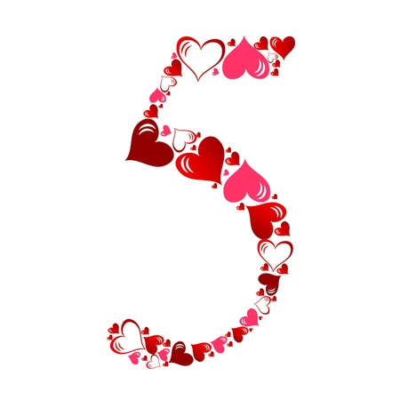 Number of hearts vector illustration Stock Vector - 11083657