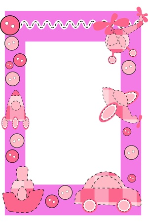 Baby frame or greeting card Stock Vector - 11139157