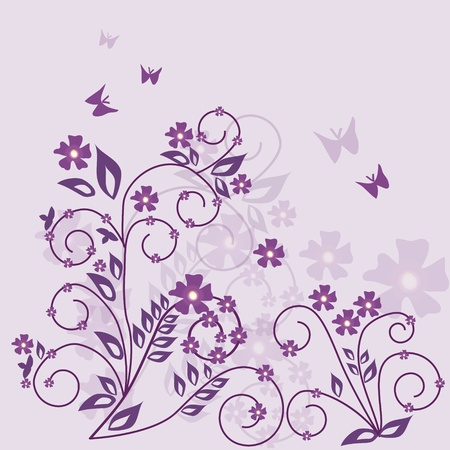 floral background - vector Stock Vector - 11139166