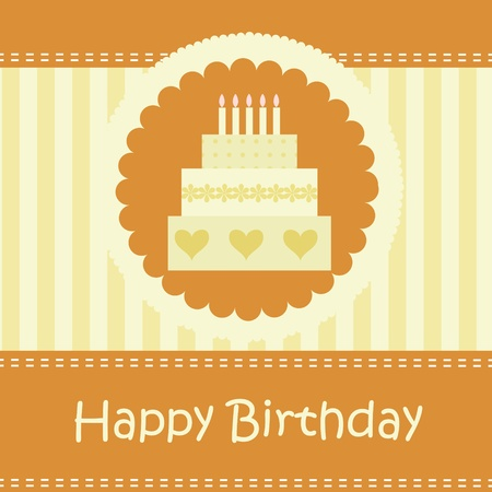 Birthday card with copy space Stock Vector - 11139176