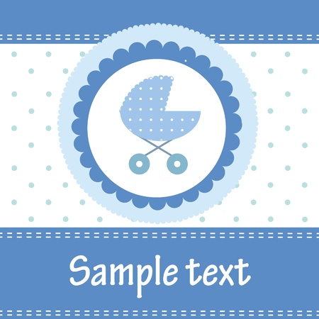 Template cards for the boy, vector illustration Vector