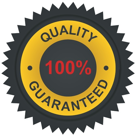 Vector sticker - quality 100% guaranteed  Stock Vector - 11211245