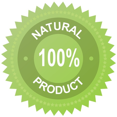 Vector label - 100% natural product Vector
