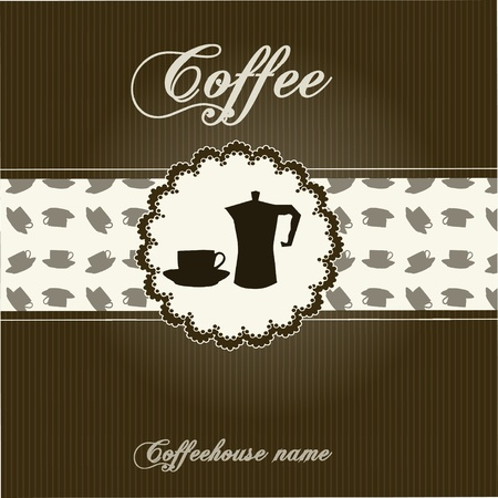 The concept of coffeehouse menu. Vector