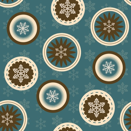 vector seamless christmas background