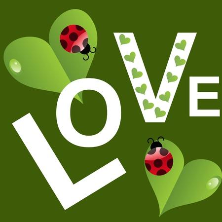 unusual valentine: Natural Valentines Day background. Vector illustration.