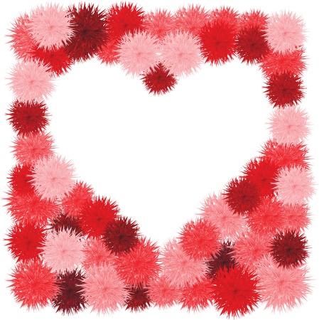 Floral Heart. Beautiful vector illustration Vector