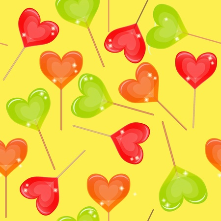 Seamless background with multi-coloured candy Vector