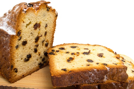 slices of cake with raisins photo