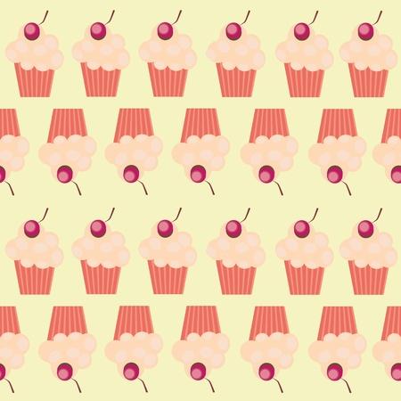 seamless cake pattern illustration Vector