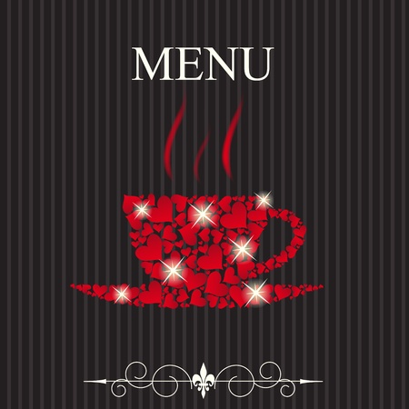 The concept of Restaurant menu on valentines day. Vector illustration Vector
