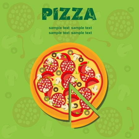 Pizza Menu Template, vector illustration Stock Vector - 11718890