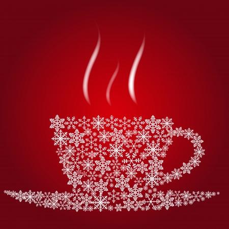 grano de cafe: Navidad taza de caf�