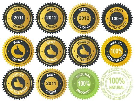 Best choice golden vector label Stock Vector - 11718891