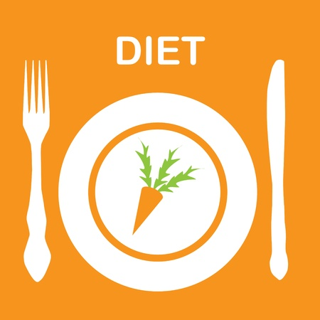 diet icon. vector illustration Vector