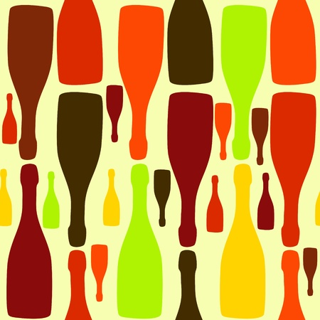 Vector background with bottles. Good for restaurant or bar menu design Vector