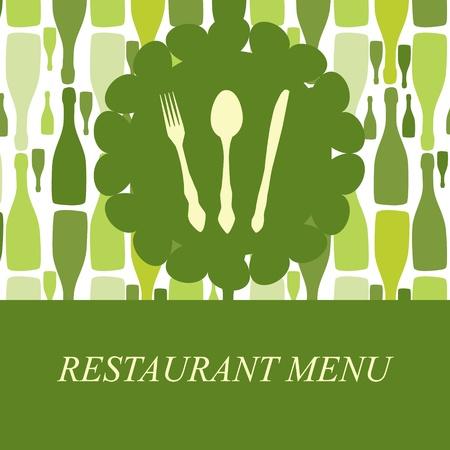 The concept of Restaurant menu. Vector