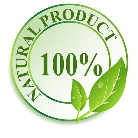 Etichetta per i prodotti naturali. Illustrazione vettoriale.