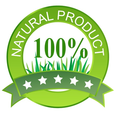 Label for natural products. Vector illustration. Illustration