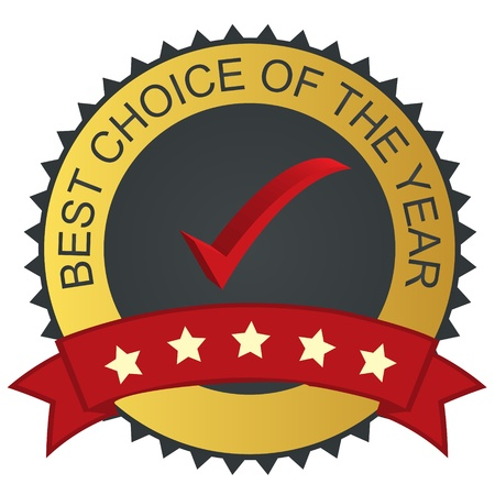choices: Vector label - best choice with checkmark tick