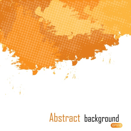 Orange abstract paint splashes illustration. Vector background with place for your text. Vector