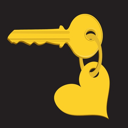 Trinket for the keys as a heart Vector