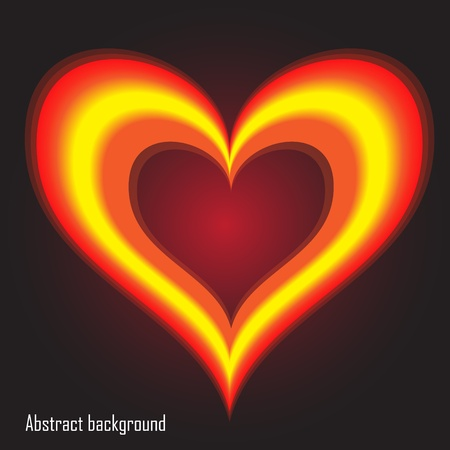 EPS10 vector abstract background with heart Vector