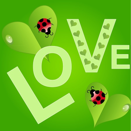 Natural Valentines Day background. Vector illustration. Vector