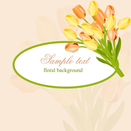 Floral background with tulips Stock Vector - 11845019
