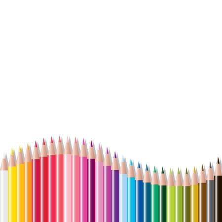 vector set of colored pencils Vector