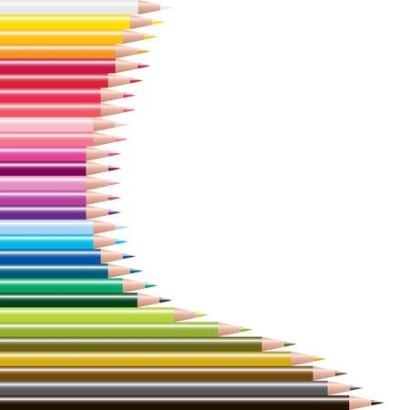 papeleria: vector conjunto de l�pices de colores Vectores