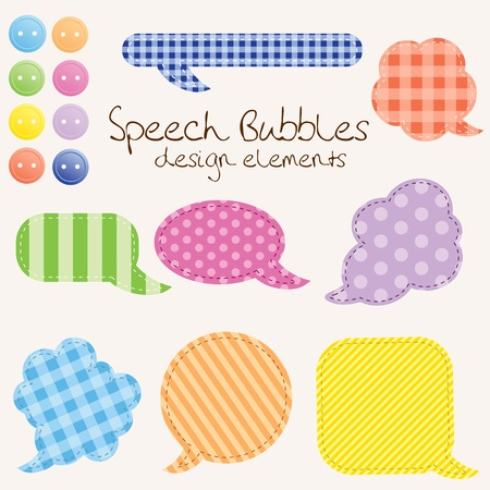 scrap booking: set of different speech bubbles,  design elements