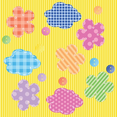 scrapbooking elements seamless pattern Vector