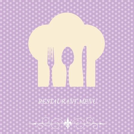 El concepto de menú de restaurante en el día de San Valentín. Ilustración vectorial Foto de archivo - 11960452
