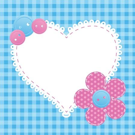 sewing button: valentine