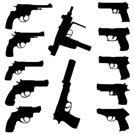 armas de fuego establece Ilustración de vector
