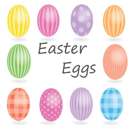 painted eggs: easter eggs, happy easter Illustration