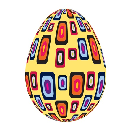 fine painted egg designed for Easter Vector