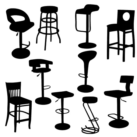Set of bar Armchairs Silhouettes Stock Vector - 12303066